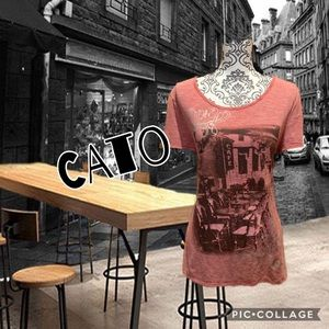 Cato Tops - 🔥5for25 🔥red w/White pinstripe short sleeve top